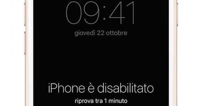 sbloccare un iphone trovato